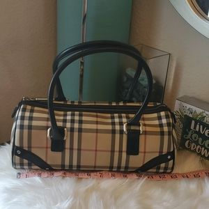 BURBERRY barrel bag speedy bag nova check